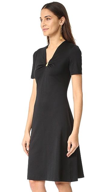 Salvatore Ferragamo Short Sleeve V Neck Dress