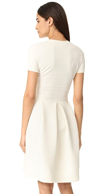 Salvatore Ferragamo Short Sleeve Crew Neck Dress