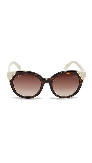 Salvatore Ferragamo Colorblock Sunglasses