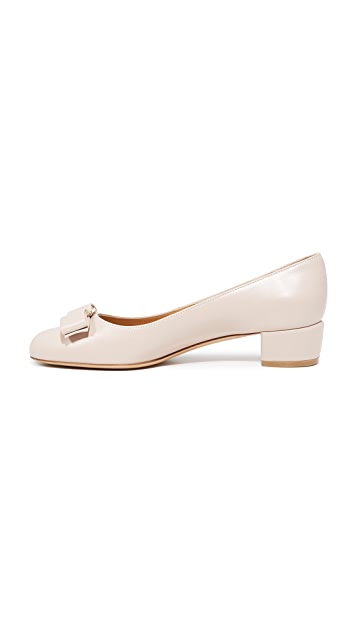 Salvatore Ferragamo Vara Low Heel Pumps