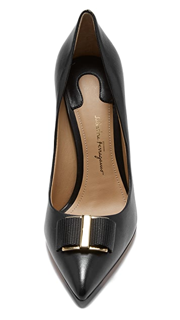 Salvatore Ferragamo Ornament Bow Pumps