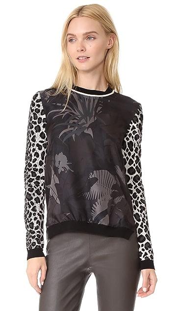 Salvatore Ferragamo Mixed Print Sweater