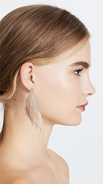Salvatore Ferragamo Fur Earrings