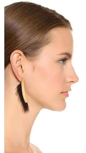 Salvatore Ferragamo Fur Earrings