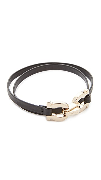 Double Gancio Wrap Bracelet by Salvatore Ferragamo