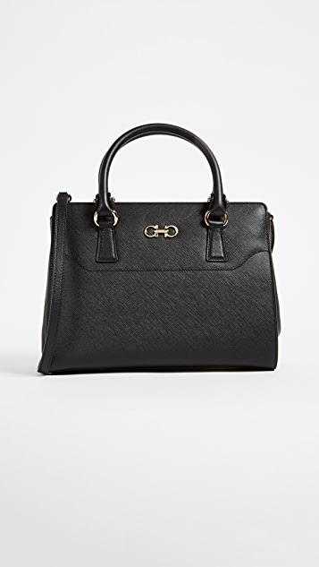 Salvatore Ferragamo Beky Medium Tote - Nero