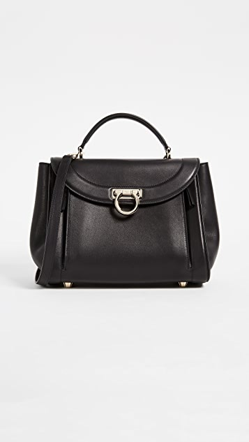Salvatore Ferragamo Rainbow Small Satchel - Nero