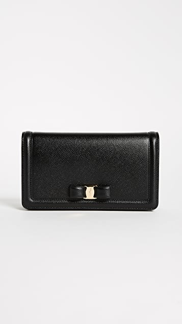 Salvatore Ferragamo Vara Wallet on a Chain - Nero