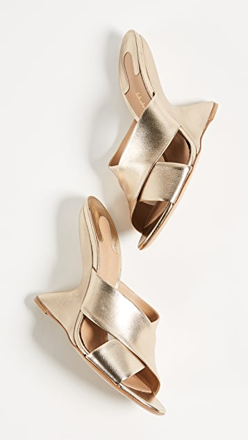 Salvatore Ferragamo Alcamo Wedge Mules