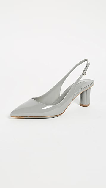 Buti 55 patent grey pumps Salvatore Ferragamo