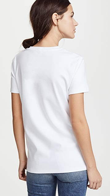 Salvatore Ferragamo Tee with Grommet Detail