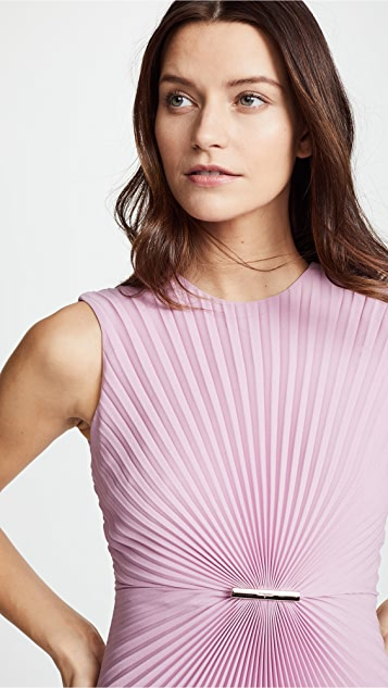 Salvatore Ferragamo Pleated Sleeveless Dress