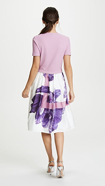 Salvatore Ferragamo Flower Photo Print Dress
