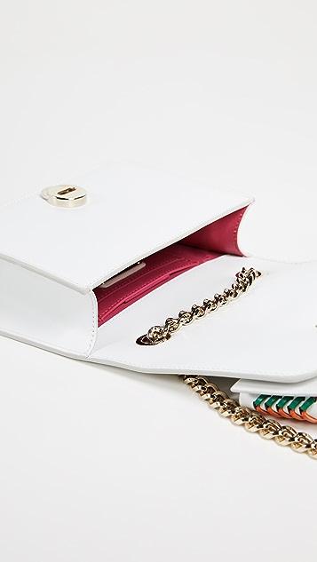 Salvatore Ferragamo Vara Interwoven Bow Cross Body Bag