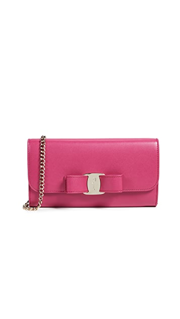 Salvatore Ferragamo Vara Rainbow Wallet on a Chain