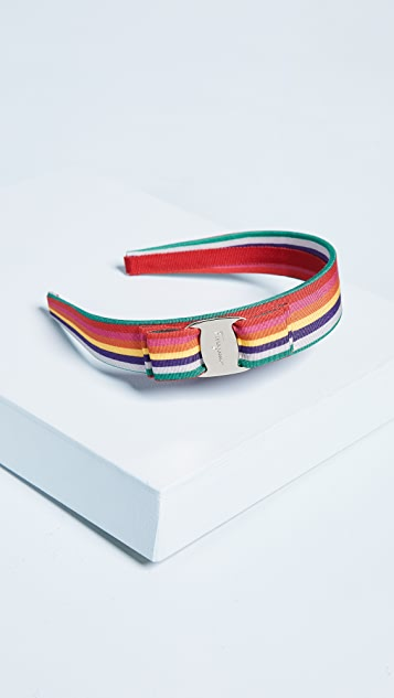 Salvatore Ferragamo Rainbow Vara Bow Headband