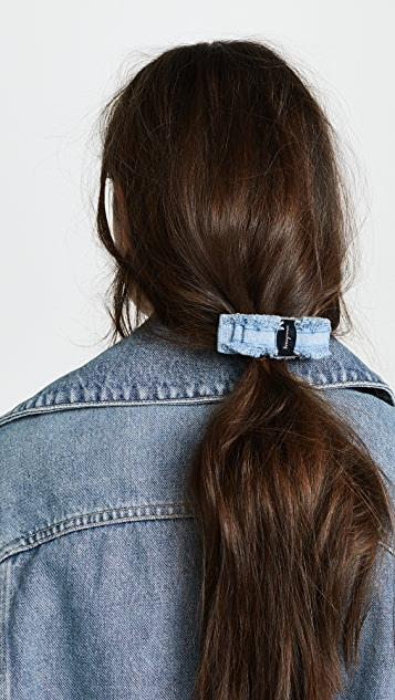 Salvatore Ferragamo Denim Vara Bow Barrette