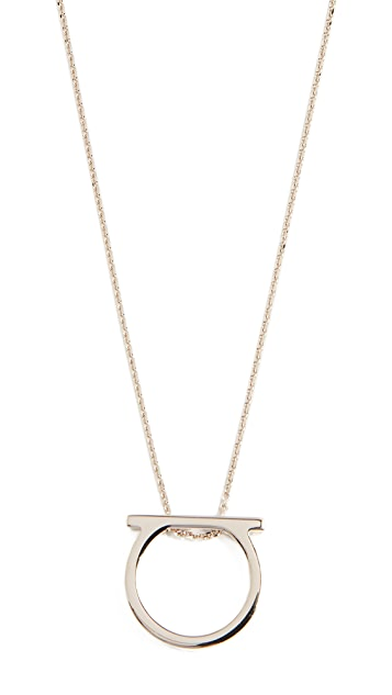 Salvatore Ferragamo Gancio Mini Necklace