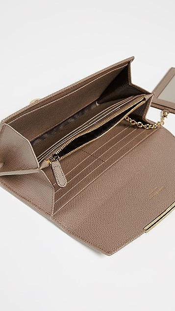 Salvatore Ferragamo Gancio Clip Continental Wallet