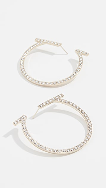 Salvatore Ferragamo Crystal Creola Earrings