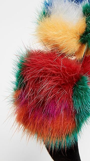 Salvatore Ferragamo Fur Visone Headband