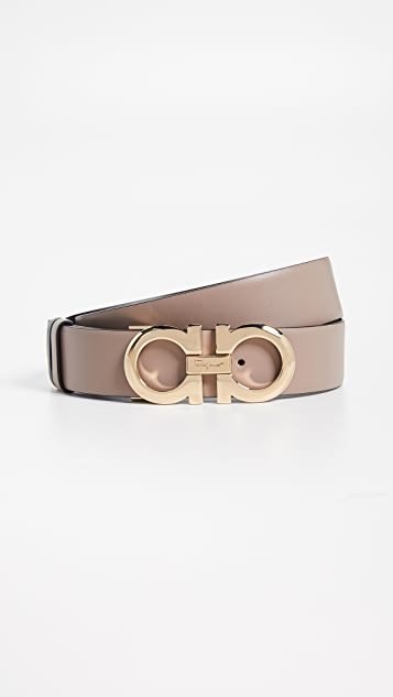 Salvatore Ferragamo Gancini Reversible Belt