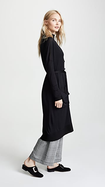 Salvatore Ferragamo Tie Waist Long Cardigan