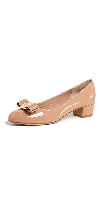 Salvatore Ferragamo Vara Low Heel Pumps - New Blush