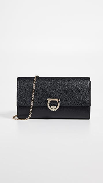 Salvatore Ferragamo Gancino Logo Crossbody Bag