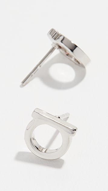Salvatore Ferragamo Gancio Stud Earrings