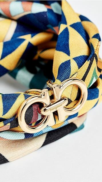 Salvatore Ferragamo Шелковый браслет с завязками
