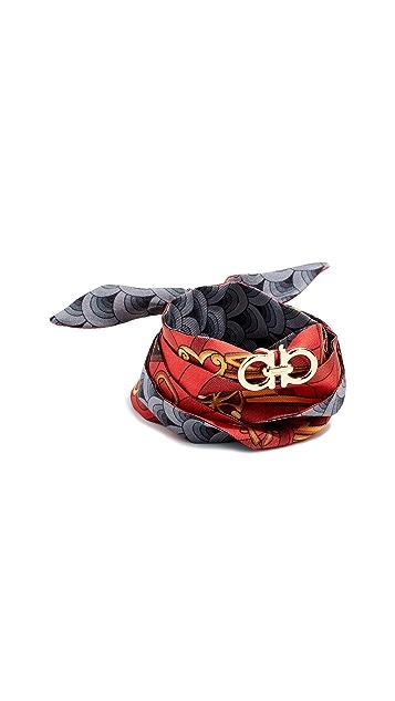 Salvatore Ferragamo Silk Tie Bracelet