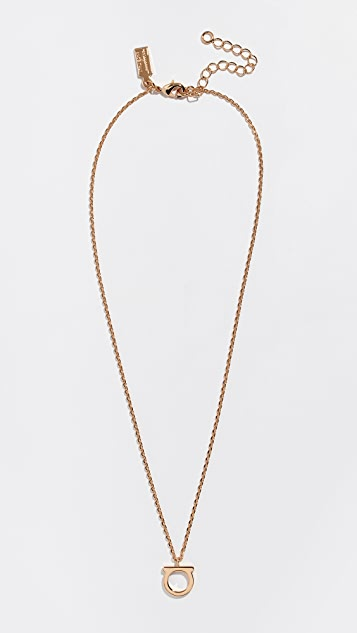 Salvatore Ferragamo Logo Necklace
