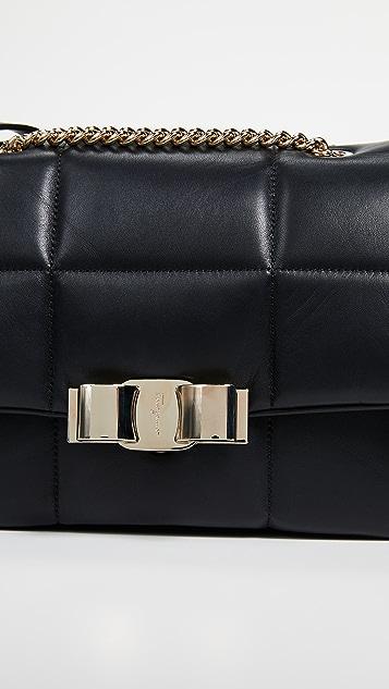 Salvatore Ferragamo Vara Soft Shoulder Bag