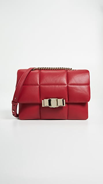Salvatore Ferragamo Vara Soft Shoulder Bag