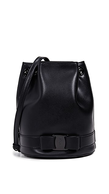 Salvatore Ferragamo Vara Rainbow Bucket Bag