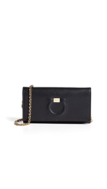 Salvatore Ferragamo Gancio City Wallet on a Chain