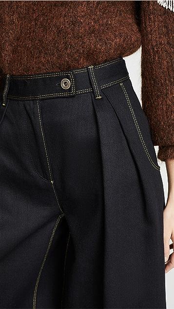 Salvatore Ferragamo Wide Leg Jeans