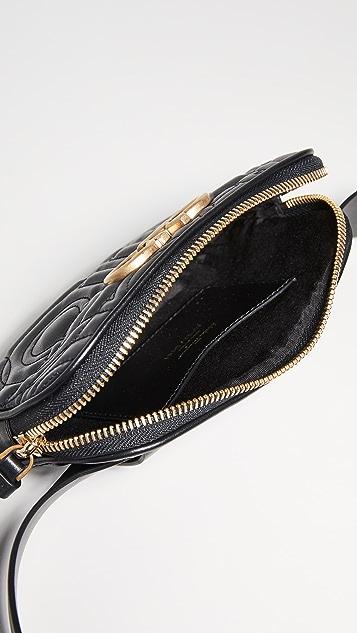 Salvatore Ferragamo Поясная сумка со стеганой отделкой Gancino