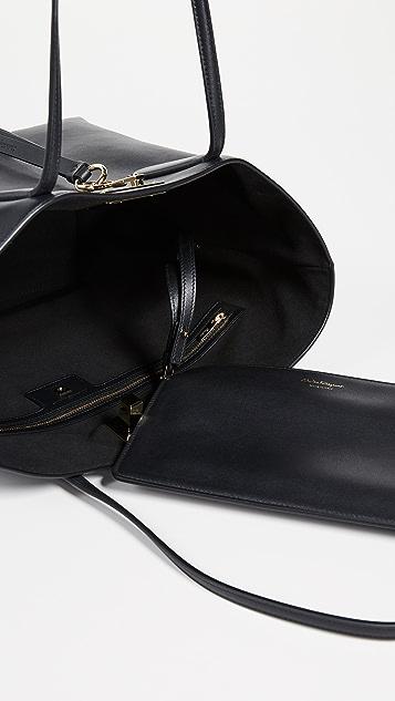 Salvatore Ferragamo Объемная сумка с короткими ручками Studio
