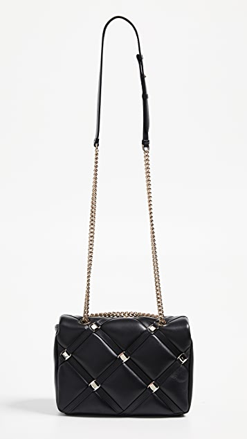 Salvatore Ferragamo Vara Soft Studs Shoulder Bag