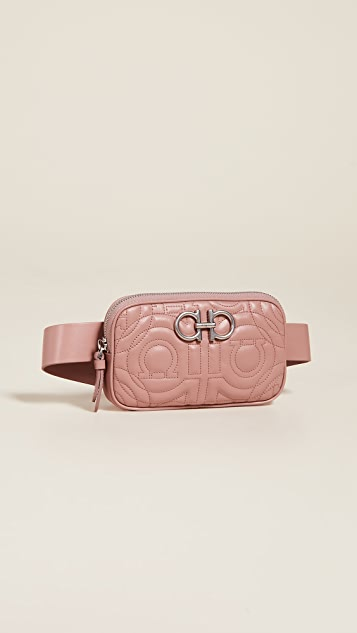 Salvatore Ferragamo Gancini Quilting Belt Bag