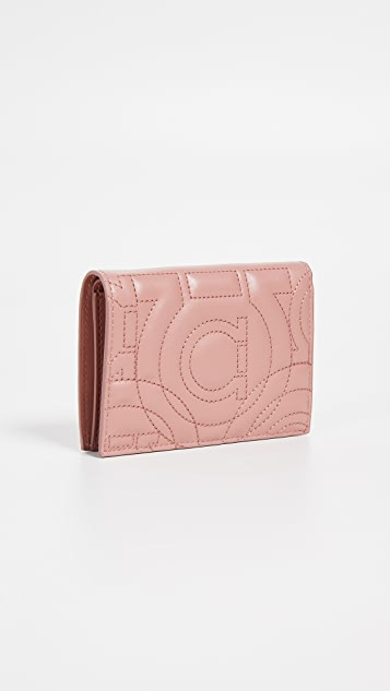 Salvatore Ferragamo Gancino Quilting Card Case