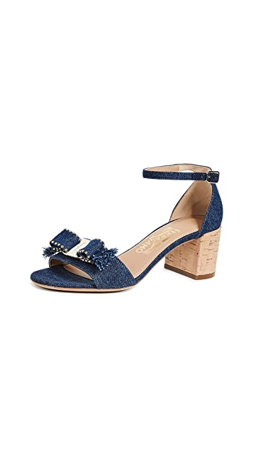 Salvatore Ferragamo Gavina Jeans Sandals