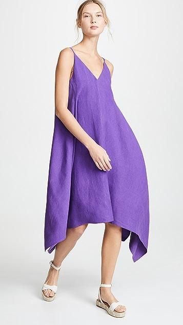 Salvatore Ferragamo Шелковое платье с V-образным вырезом