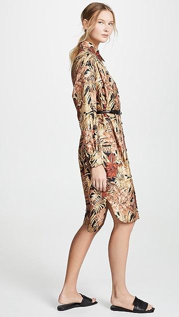Salvatore Ferragamo Платье-рубашка с рисунком