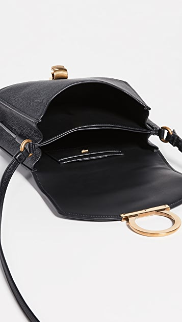 Salvatore Ferragamo Gancio Vela Soft Saddle Bag
