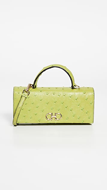 Salvatore Ferragamo The Gancini Ostrich Bag