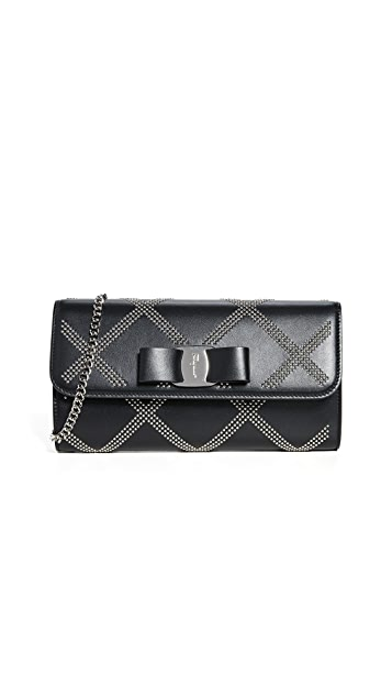 Salvatore Ferragamo Vara Rainbow Mini Studs Mini Bag
