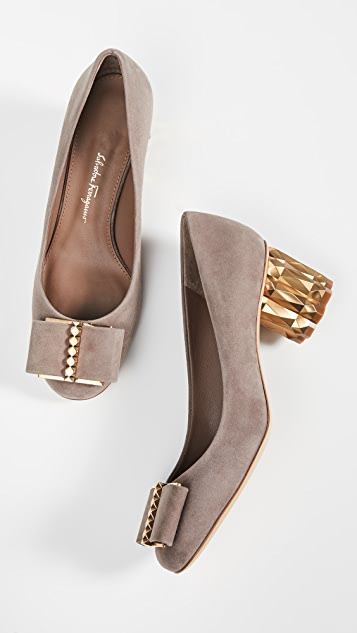 Capua 55mm 3 D Pumps by Salvatore Ferragamo